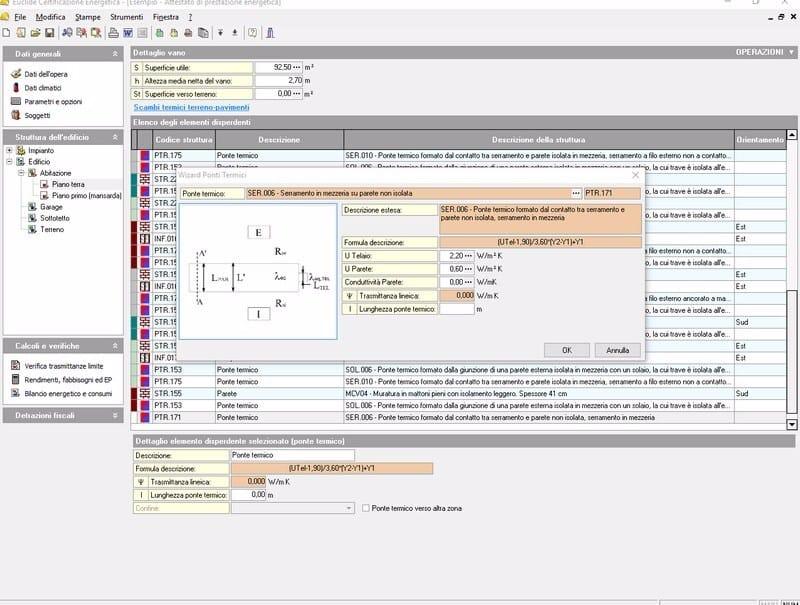 EUCLIDE CERTIFCAZIONE ENERGETICA LT Input tabellare