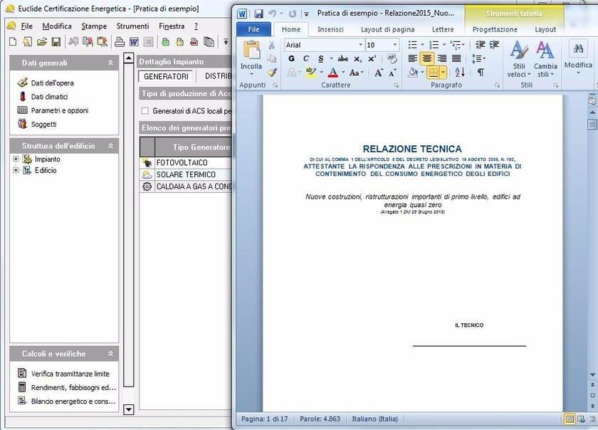 EUCLIDE CERTIFICAZIONE ENERGETICA PRO Relazione Tecnica