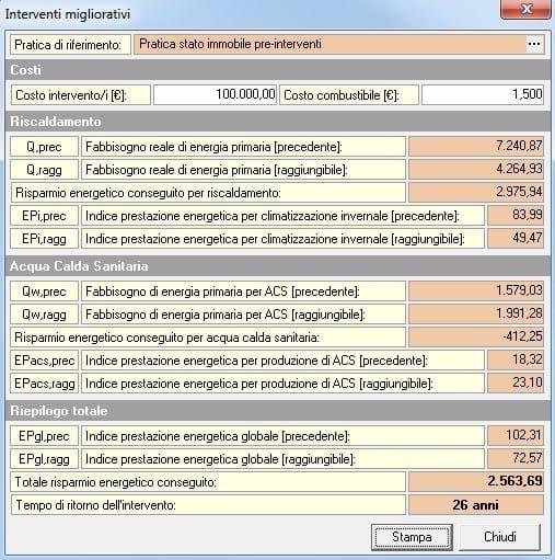 EUCLIDE CERTIFICAZIONE ENERGETICA PRO Analisi interventi migliorativi