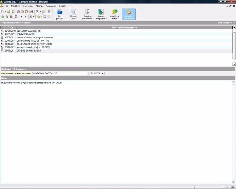 EUCLIDE COMPUTO & CONTABILITÀ Registro documenti