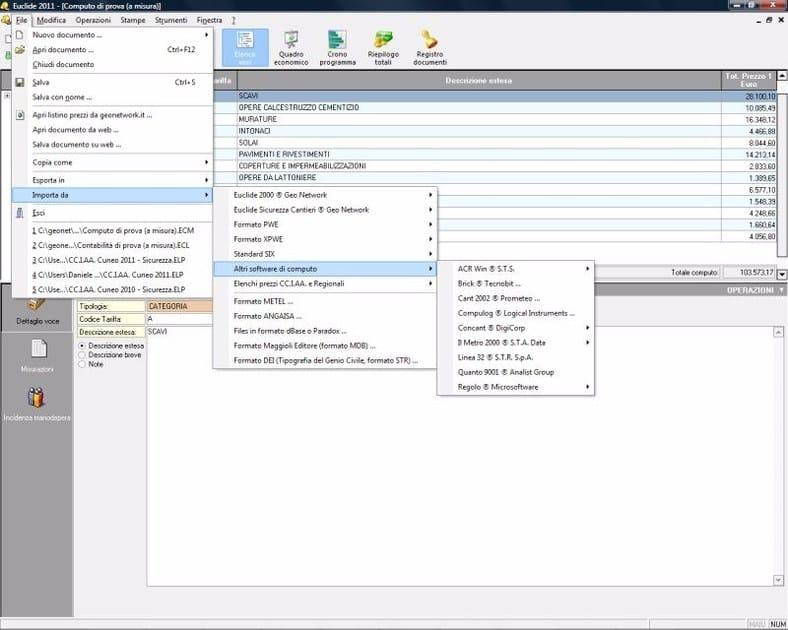 EUCLIDE COMPUTO & CONTABILITÀ Collegamenti con altri software