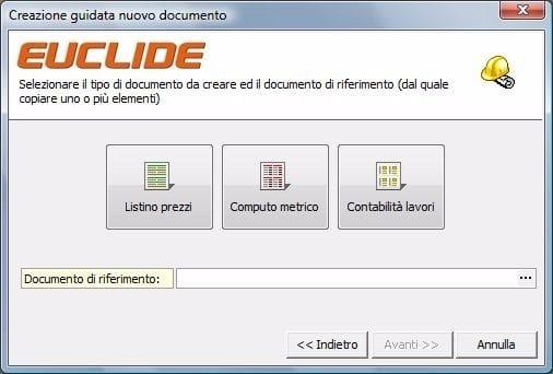 EUCLIDE COMPUTO LT Creazione guidata documenti