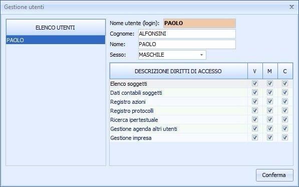 EUCLIDE IMPRESA EDILE Client/server, multi utenza, diritti di accesso