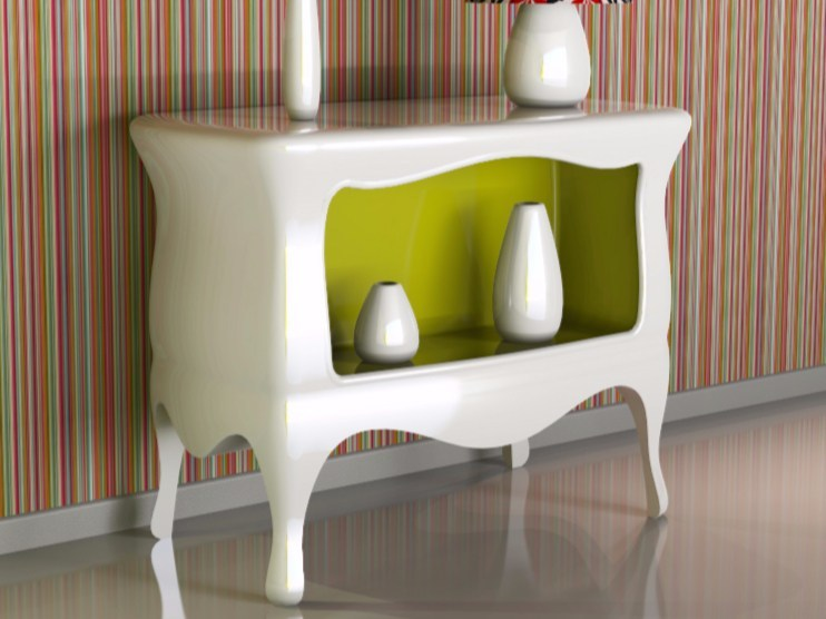 Lacquered Adamantx® console table EUFEMIA by ZAD ITALY