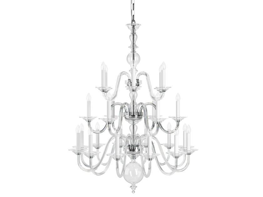 Bohemian Style direct light handmade crystal chandelier EUGENE HISTORIC DESIGN by PRECIOSA Lighting