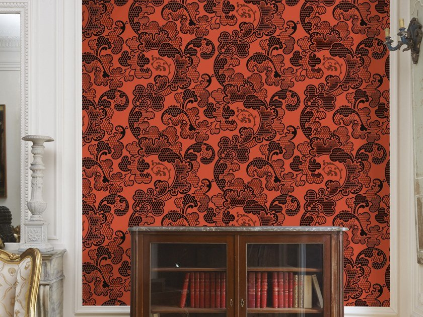 Non-woven paper wallpaper strip EUGENIE by Isidore Leroy