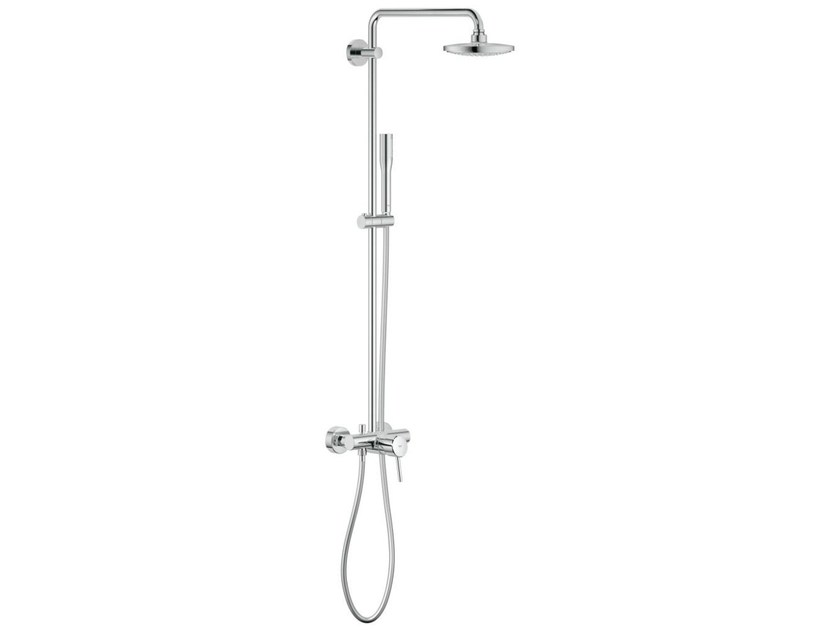 Wall-mounted shower panel with overhead shower EUPHORIA CONCETTO ...