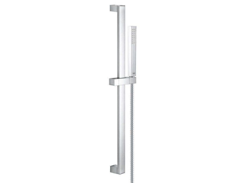 Chrome-plated shower wallbar with hand shower EUPHORIA CUBE+ STICK | Shower wallbar by Grohe