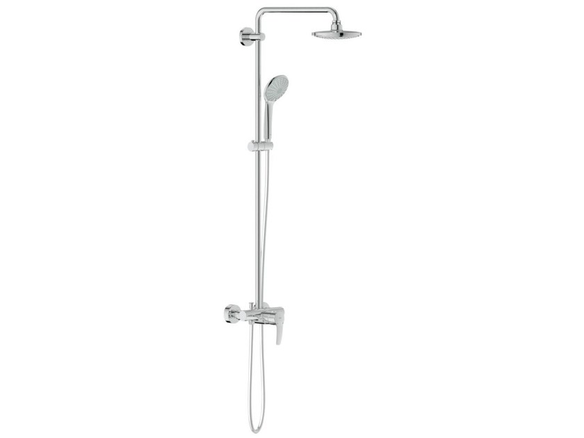 Wall-mounted shower panel with overhead shower EUPHORIA SYSTEM 180 | Shower panel with hand shower by Grohe