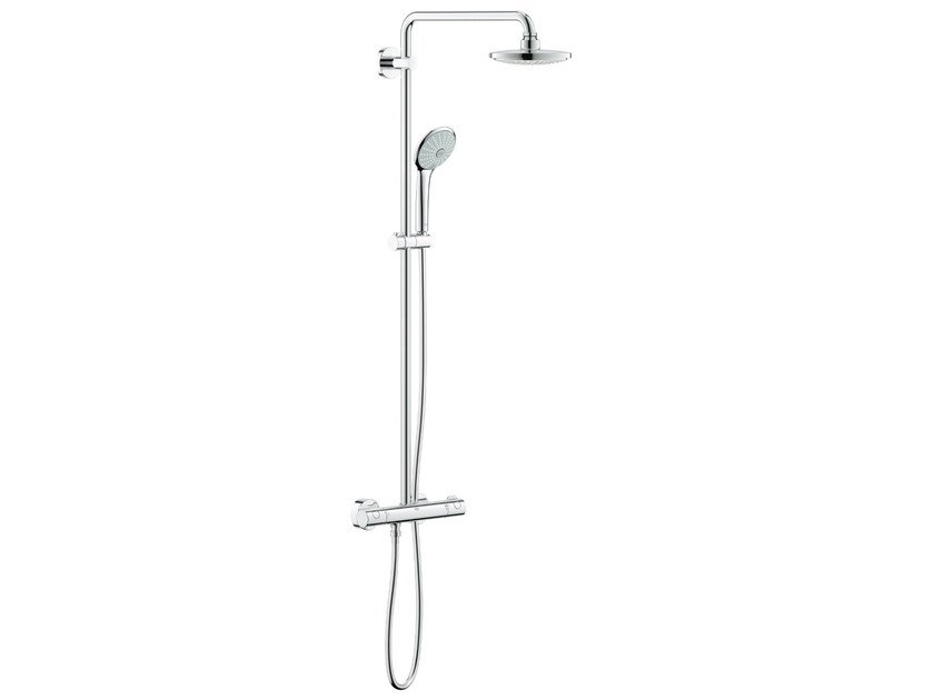 Wall-mounted thermostatic shower panel with diverter EUPHORIA SYSTEM 180 E | Shower panel by Grohe