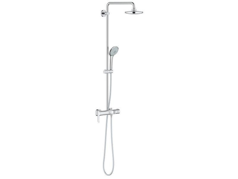 Wall-mounted shower panel with hand shower EUPHORIA SYSTEM 180 | Shower panel with overhead shower by Grohe