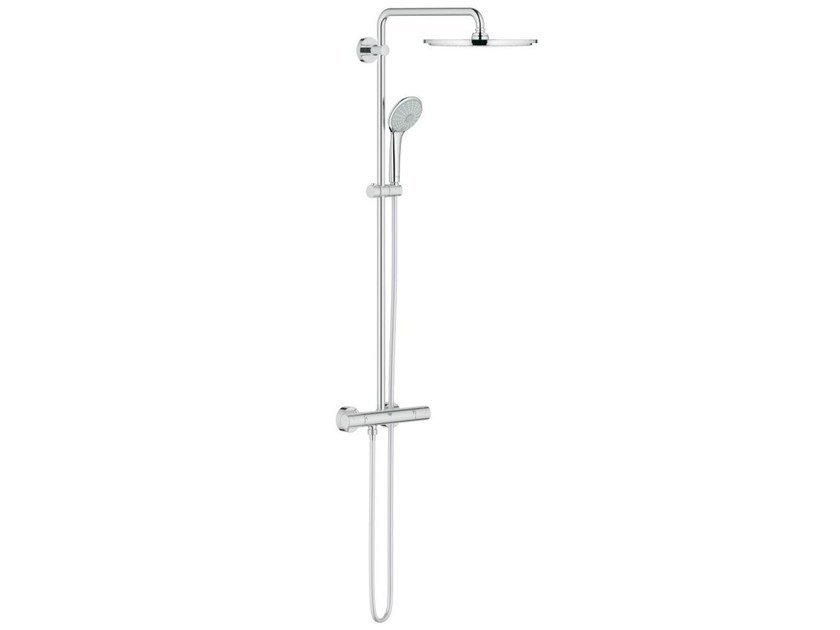 Wall-mounted thermostatic shower panel with overhead shower EUPHORIA XXL SYSTEM 310 by Grohe