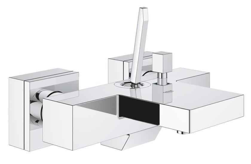 2 hole single handle bathtub / shower mixer EUROCUBE JOY | Wall-mounted bathtub mixer by Grohe