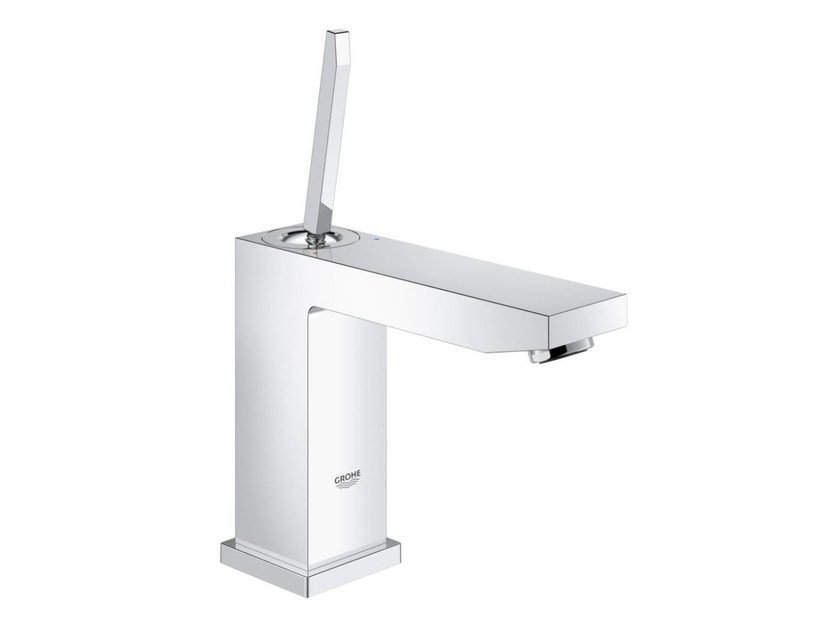 Countertop single handle 1 hole washbasin mixer EUROCUBE JOY SIZE M | Washbasin mixer without waste by Grohe