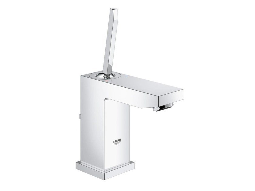 Countertop single handle washbasin mixer with flow limiter EUROCUBE JOY SIZE S | Washbasin mixer with pop up waste by Grohe