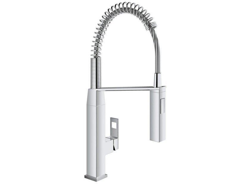Countertop 1 hole kitchen mixer tap with spray EUROCUBE 31395_ | Kitchen mixer tap by Grohe