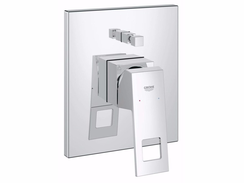 Single handle shower mixer with diverter EUROCUBE | Shower mixer with diverter by Grohe