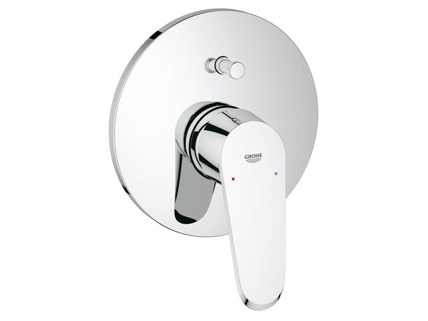 Single handle shower/bathub mixer with plate EURODISC COSMOPOLITAN | Shower mixer with diverter by Grohe
