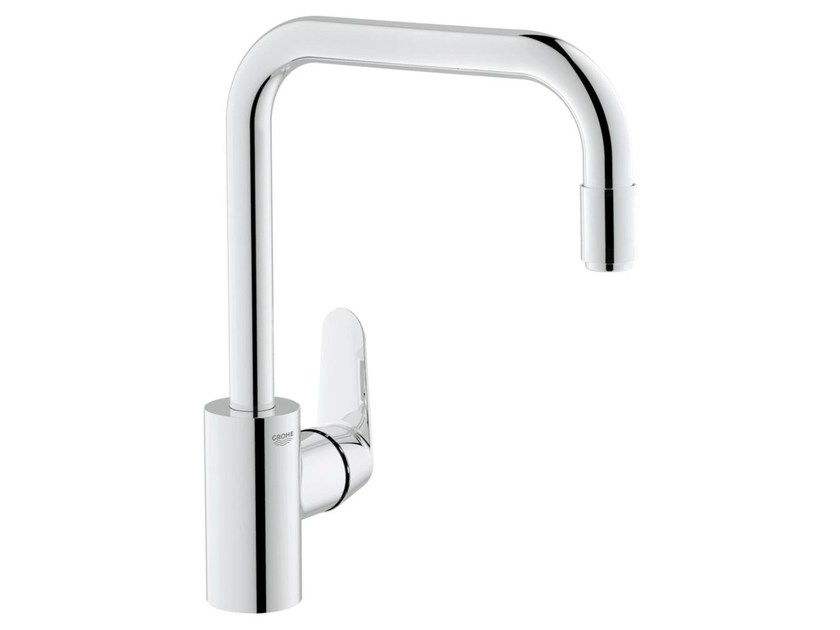 Countertop 1 hole kitchen mixer tap with swivel spout EURODISC COSMOPOLITAN | Kitchen mixer tap with aerator by Grohe
