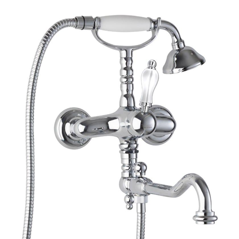 Wall-mounted bathtub set with hand shower EUROPA | Bathtub set by BIANCHI RUBINETTERIE