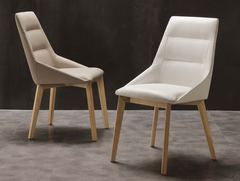 Upholstered restaurant chair EUROPA by La seggiola