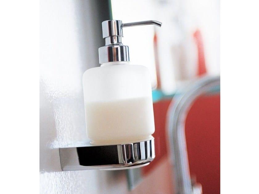 Wall-mounted satin glass liquid soap dispenser EUROPE   Liquid soap dispenser by INDA®