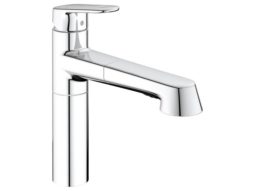 Countertop 1 hole kitchen mixer tap with swivel spout EUROPLUS C | Kitchen mixer tap with pull out spray by Grohe