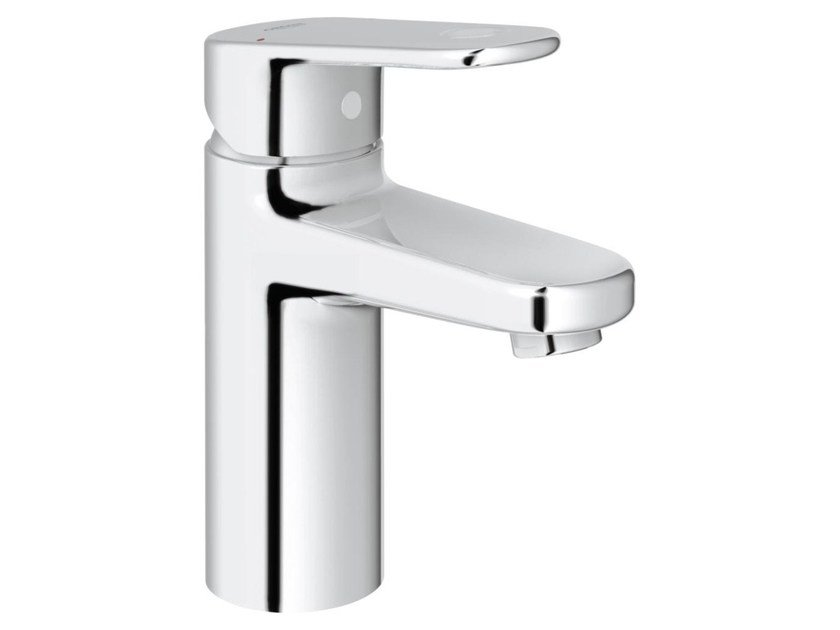 Countertop single handle washbasin mixer with temperature limiter EUROPLUS C SIZE S | Washbasin mixer without waste by Grohe