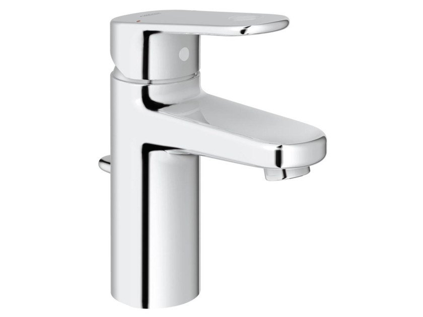 Countertop single handle washbasin mixer with temperature limiter EUROPLUS C SIZE S | Washbasin mixer with pop up waste by Grohe