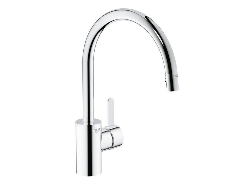 Countertop 1 hole kitchen mixer tap with swivel spout EUROSMART COSMOPOLITAN | Kitchen mixer tap with aerator by Grohe