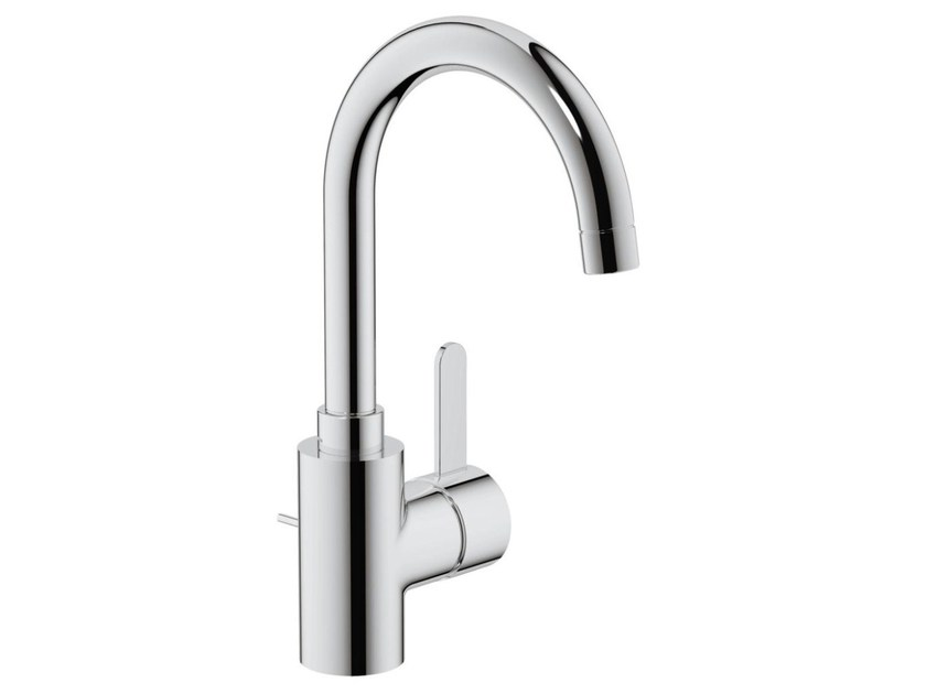 Countertop single handle washbasin mixer with automatic pop-up waste EUROSMART COSMOPOLITAN | Washbasin mixer with adjustable spout by Grohe