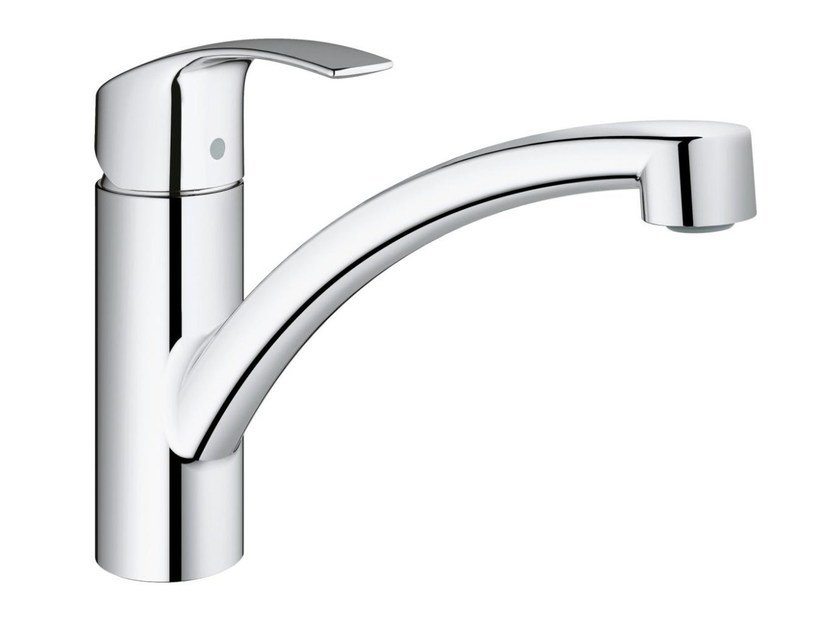 Countertop 1 hole kitchen mixer tap with swivel spout EUROSMART | Kitchen mixer tap with temperature limiter by Grohe