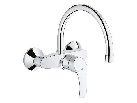 Wall-mounted kitchen mixer tap with swivel spout EUROSMART | Kitchen mixer tap by Grohe