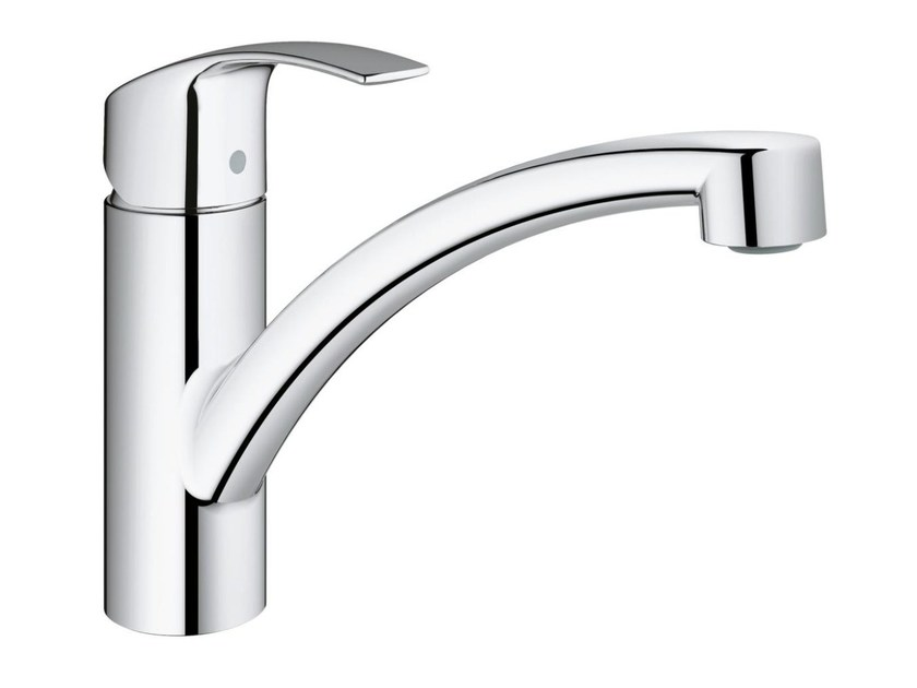 1 hole kitchen mixer tap with swivel spout EUROSMART | Countertop kitchen mixer tap by Grohe