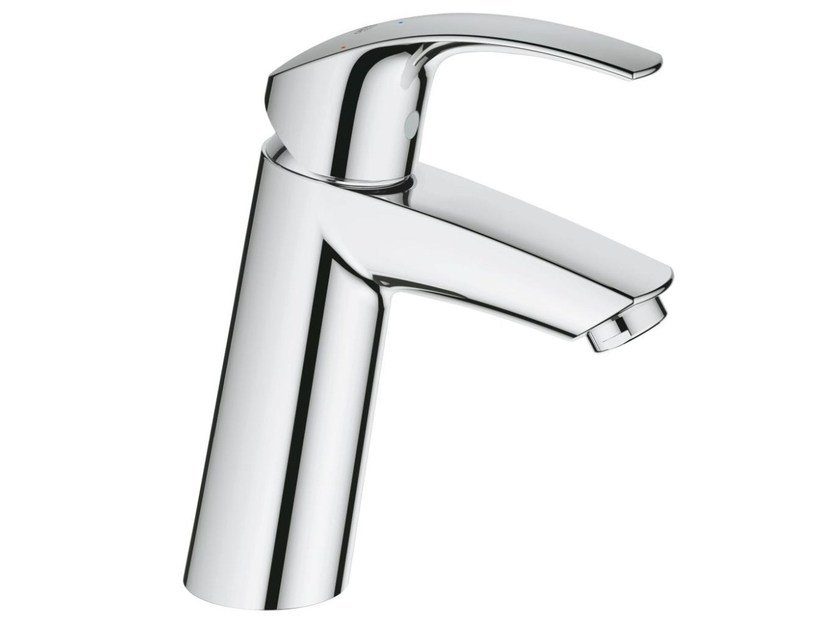 Countertop single handle washbasin mixer with temperature limiter EUROSMART SIZE M | Washbasin mixer without waste by Grohe