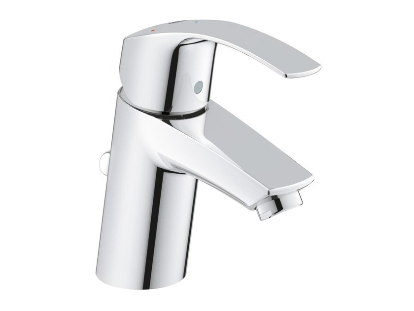 Countertop single handle washbasin mixer with temperature limiter EUROSMART SIZE S | Washbasin mixer with pop up waste by Grohe