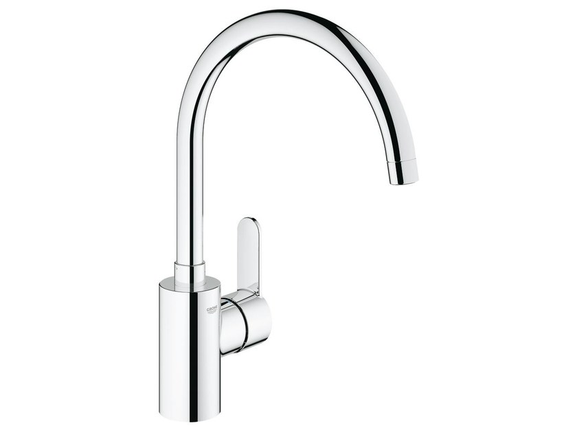 Countertop kitchen mixer tap with swivel spout EUROSTYLE COSMOPOLITAN | 1 hole kitchen mixer tap by Grohe