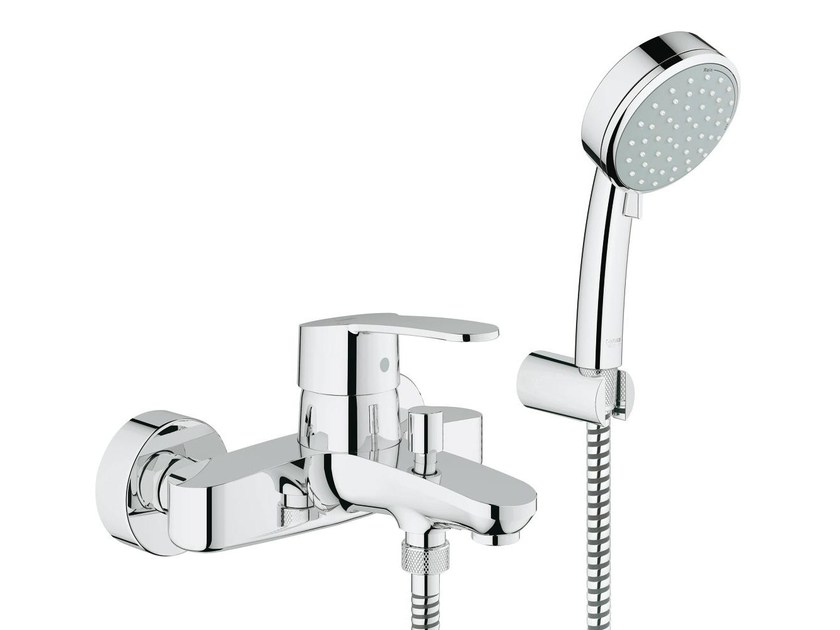 2 hole single handle bathtub/shower mixer with diverter EUROSTYLE COSMOPOLITAN | Bathtub mixer with hand shower by Grohe