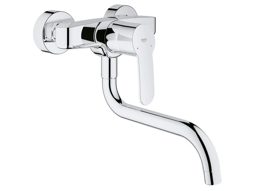 Kitchen mixer tap with swivel spout EUROSTYLE COSMOPOLITAN | Wall-mounted kitchen mixer tap by Grohe