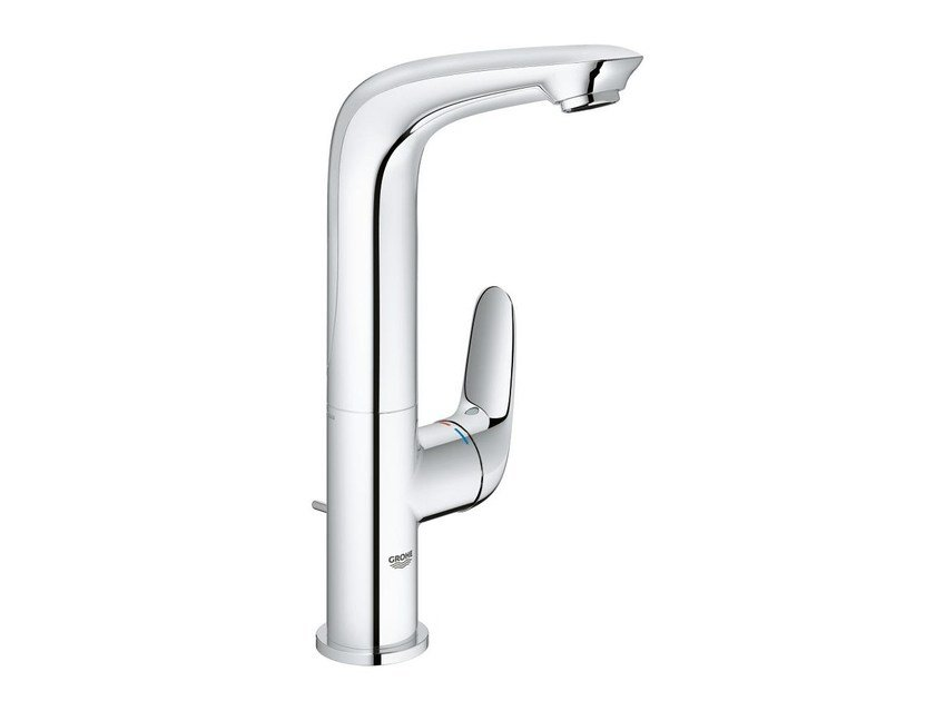 Countertop single handle washbasin mixer with pop up waste EUROSTYLE NEW SIZE L | Washbasin mixer with adjustable spout by Grohe