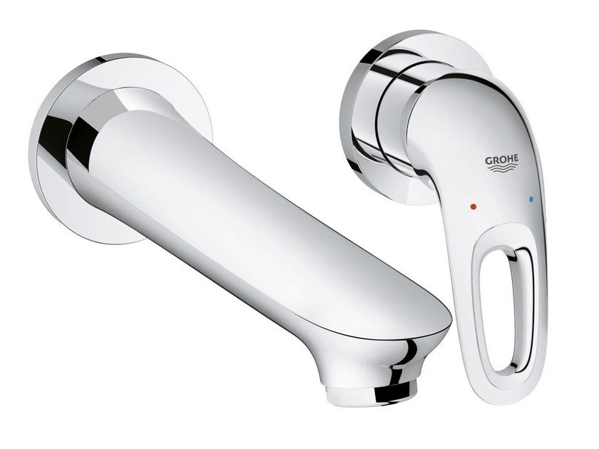 Wall-mounted single handle washbasin mixer EUROSTYLE SIZE M | Wall-mounted washbasin mixer by Grohe