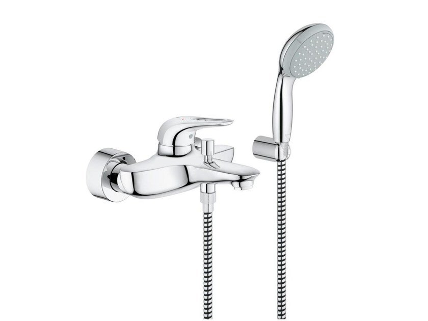 2 hole single handle shower/bathub mixer EUROSTYLE | Shower mixer with hand shower by Grohe