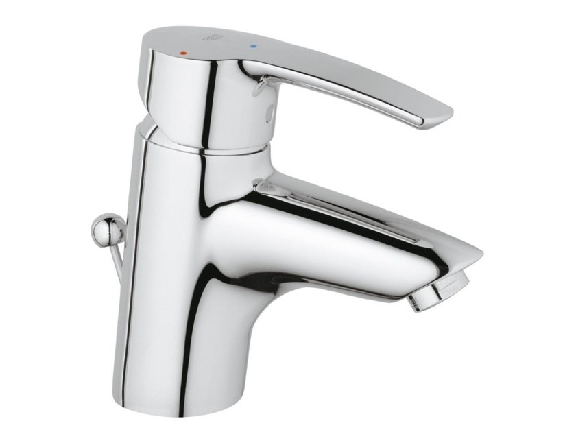 Countertop single handle washbasin mixer EUROSTYLE SIZE S | Washbasin mixer with pop up waste by Grohe