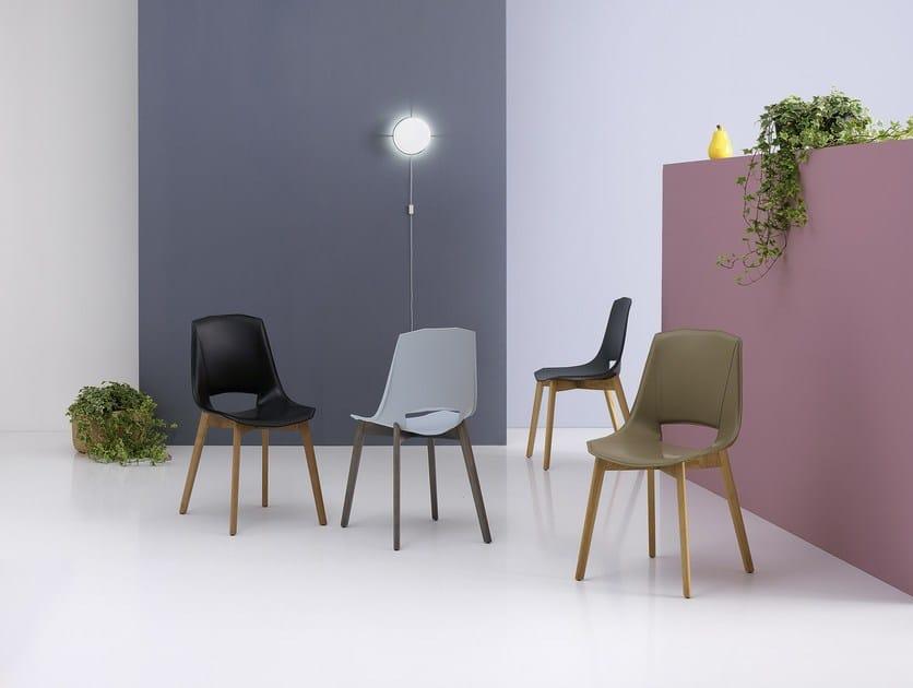 Sedia in cuoio rigenerato eva 5 by pointhouse design arter&citton