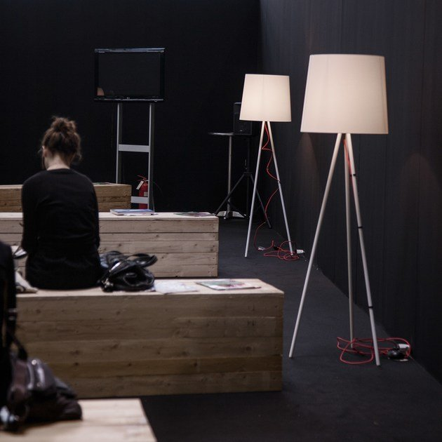 Aluminium floor lamp EVA   Indirect light floor lamp by Martinelli Luce
