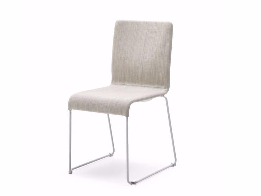Sled base chair EVA | Chair by Varaschin
