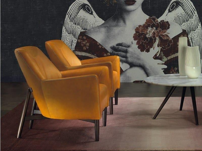 Leather armchair EVE | Leather armchair by Borzalino