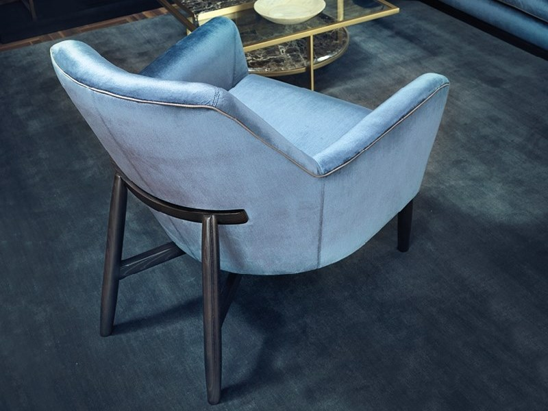 Velvet armchair EVE | Velvet armchair by Borzalino