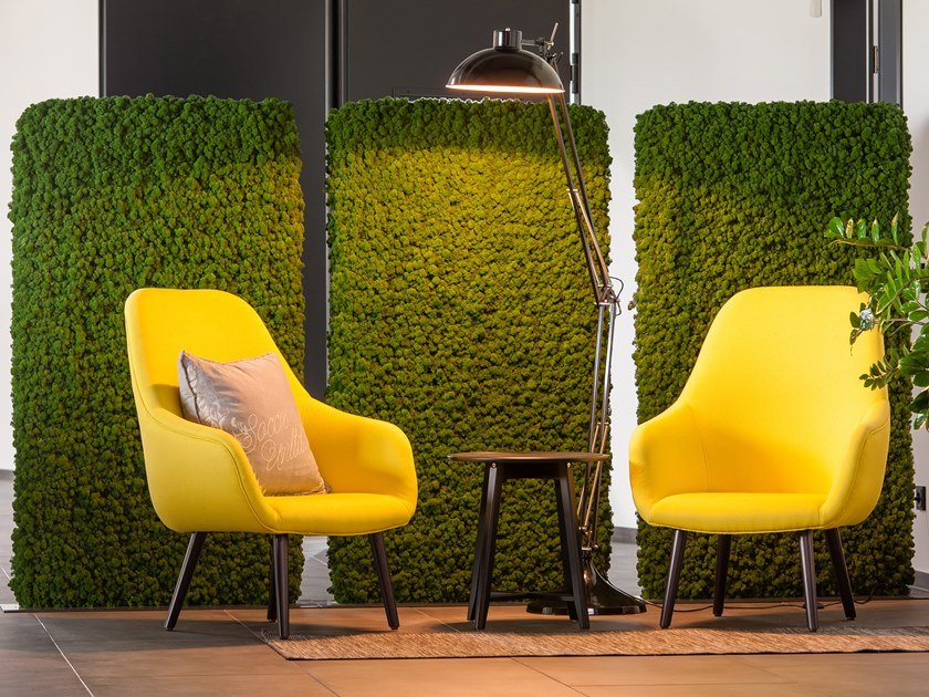 Moss wall EVERGREEN PREMIUM INDIVIDUALLY SHAPED by Freund GmbH