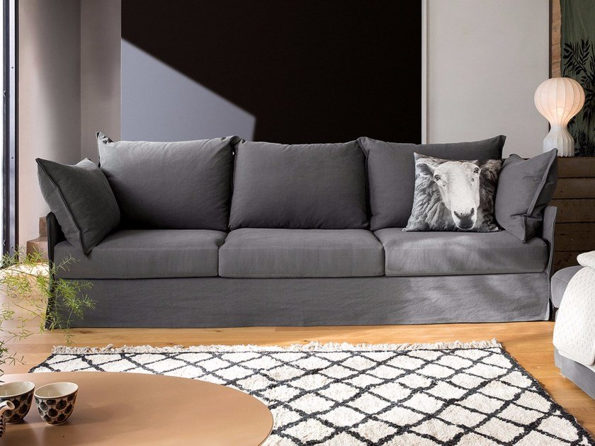 3 seater fabric sofa with removable cover EVERY | 3 seater sofa by Dall'Agnese